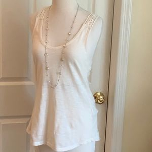 Chic LUCKY BRAND embroidered tank that will shine